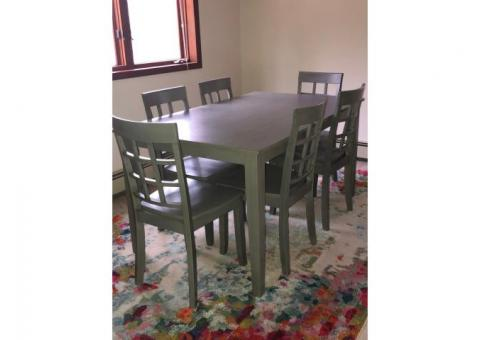7 pc dining set gray very gently used